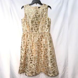 Gold Leaf Foil Dress